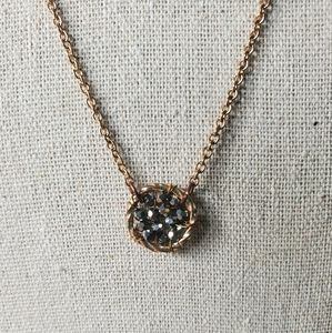 Gold chain with pyrite like dreamcatcher